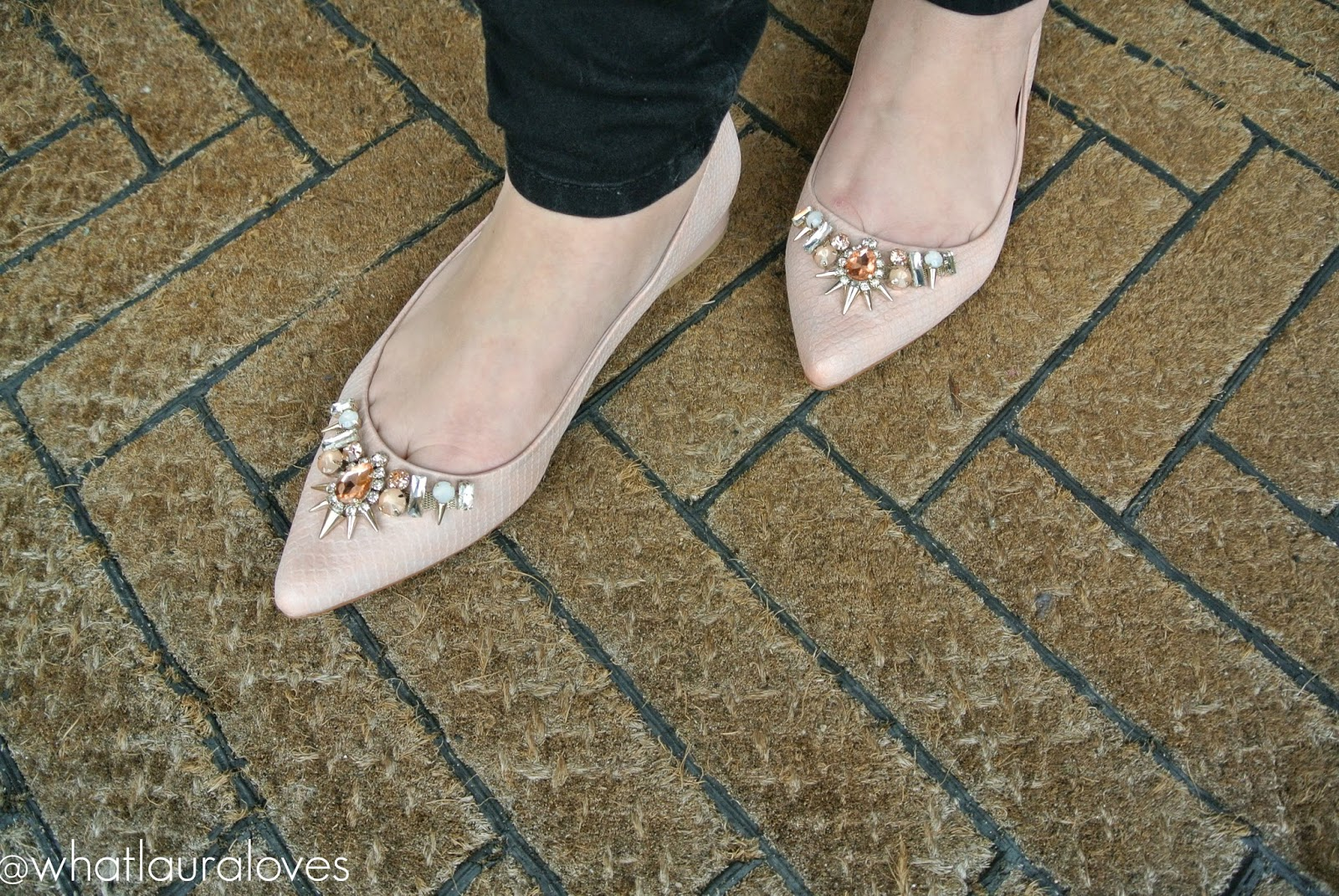 Faith Garden Embellished Flat Pointed Shoes from ASOS