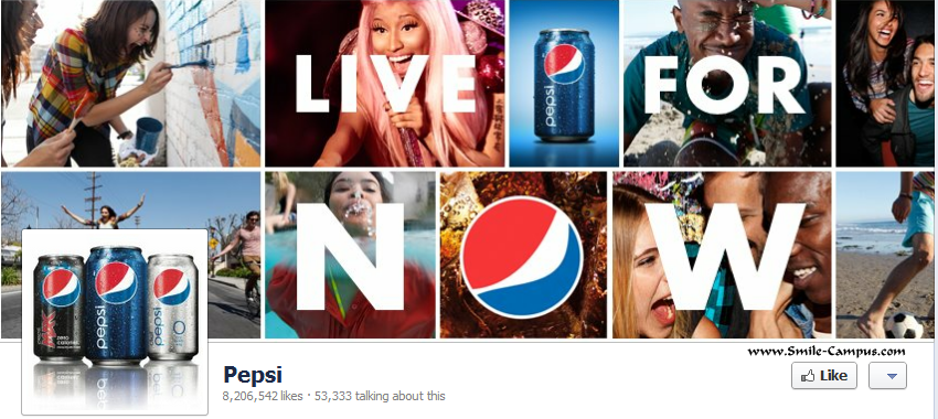 Facebook page of Pepsi