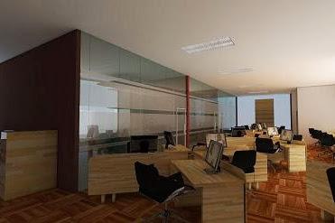 Desain Interior Ruang Kerja dengan konsep minimalis suasana nyaman dan tenang