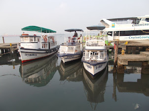 "Tourist lerisure ferry terminal at ""Marine Drive Promenade"" in Ernakulam."