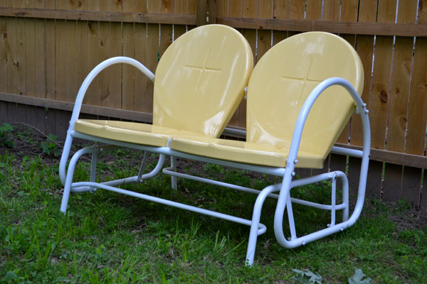 New Outdoor Furniture Sunny Yellow Retro Glider Lansdowne Life
