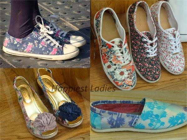 floral prints footwear