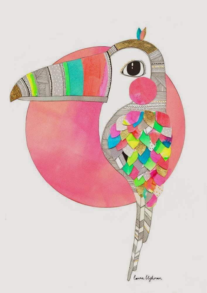Toucan print by Laura Blythman // Sunday in color blog