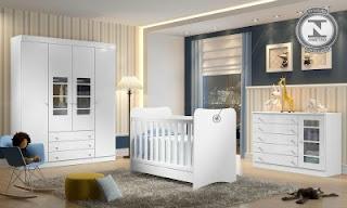 Quarto Infantil Completo Tutti-Frutti Branco Brilho
