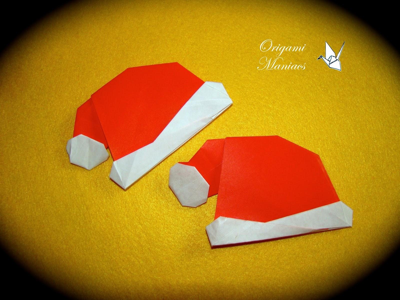 Origami Maniacs: Christmas Origami Hat/ Gorrito Navidenio - photo#15