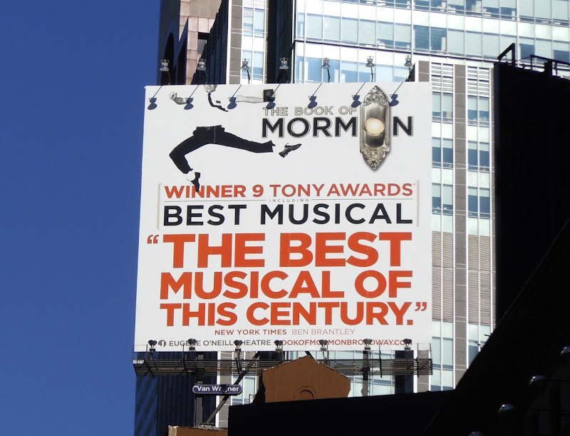 Book of Mormon musical billboard