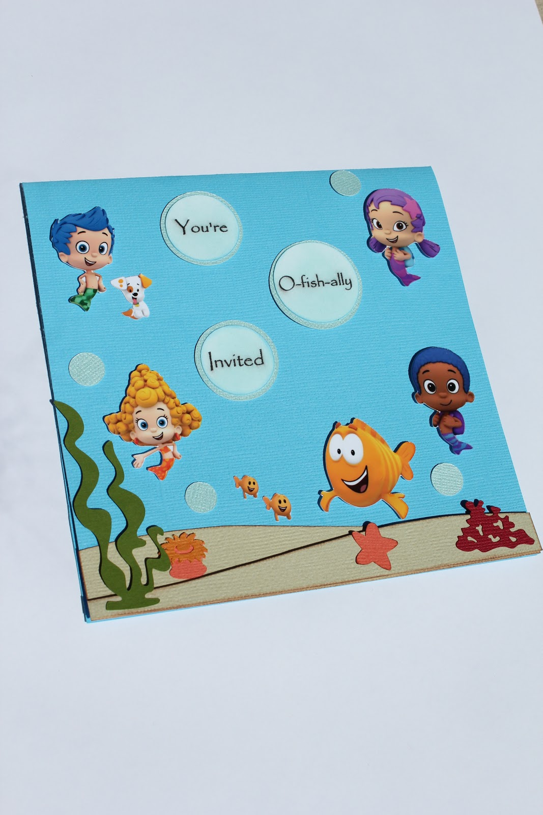 Custom invites and designs by jessica bubble guppies under the sea maxwellsz
