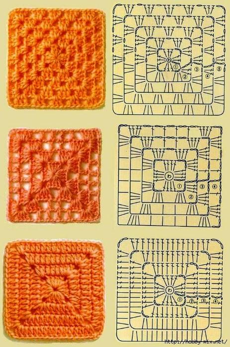Схема квадрата спираль