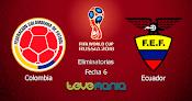 Colombia vs Ecuador en Vivo - Hora y Canal, Eliminatorias Rusia 2018