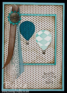 Vintage Style Up Up and Away Birthday Card by Bekka www.feeling-crafty.co.uk