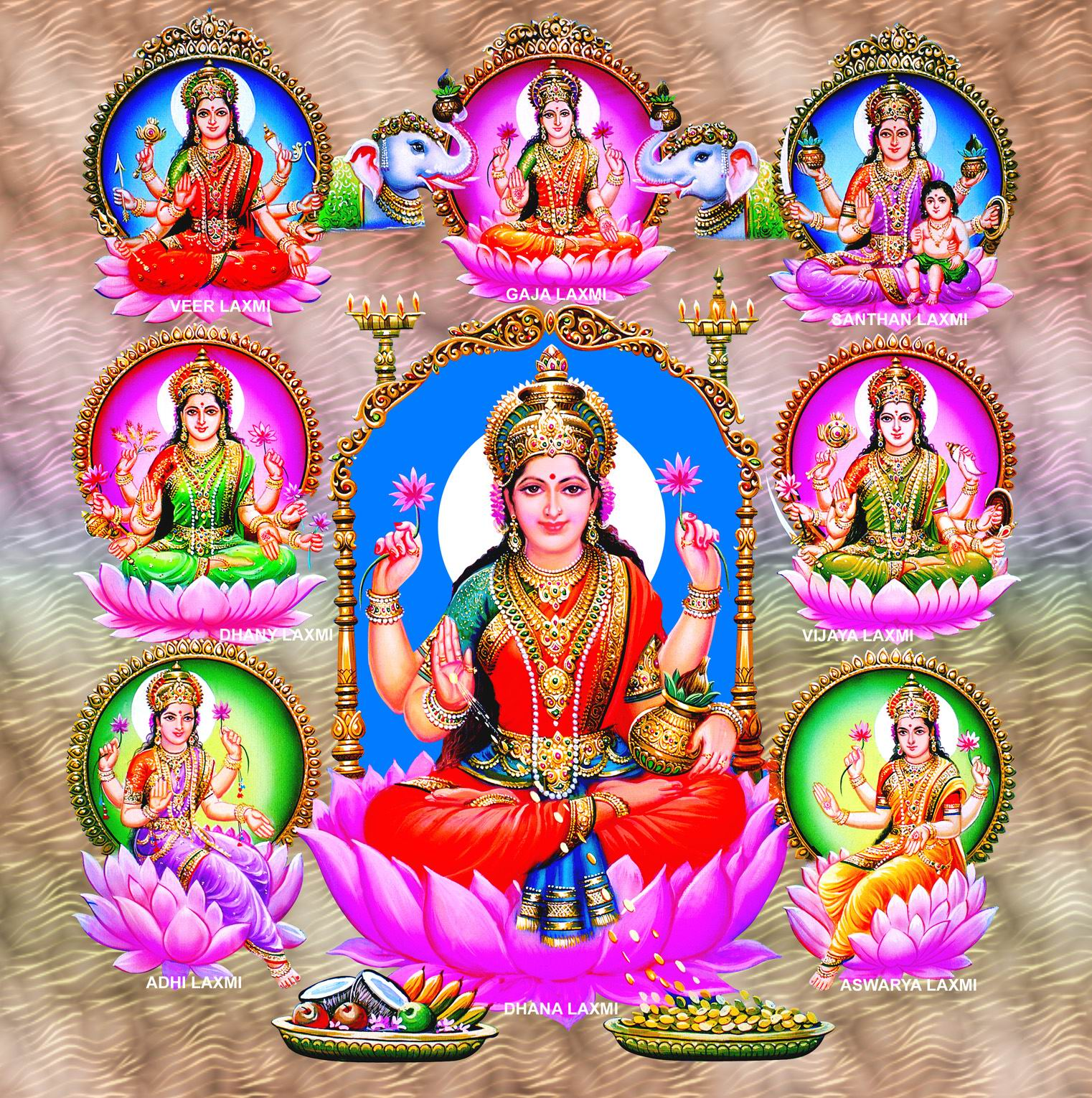 1000 Names of Goddess Lakshmi http://www.hindudevotionalblog.com/2013/01/goddess-ashta-lakshmi-pictures-download.html