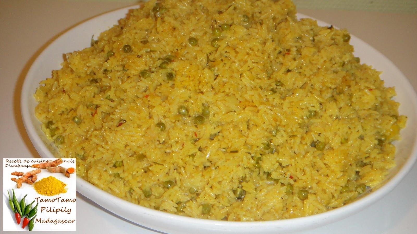 Cuisine artisanale d 39 ambanja madagascar riz jaune aux for Petit pois cuisine
