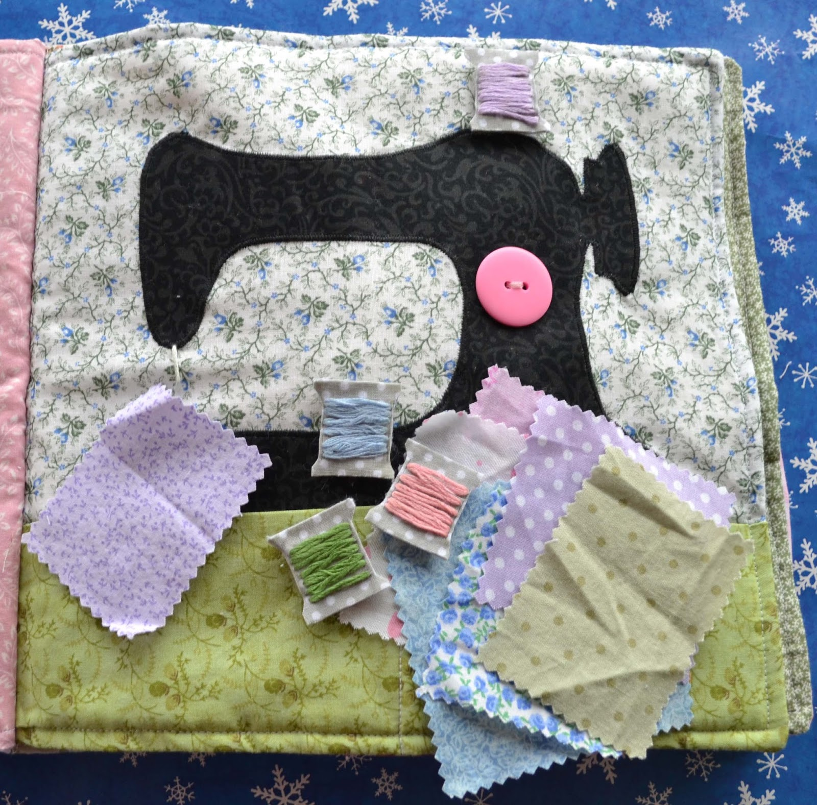 Grace's Quiet Book- Sewing Machine