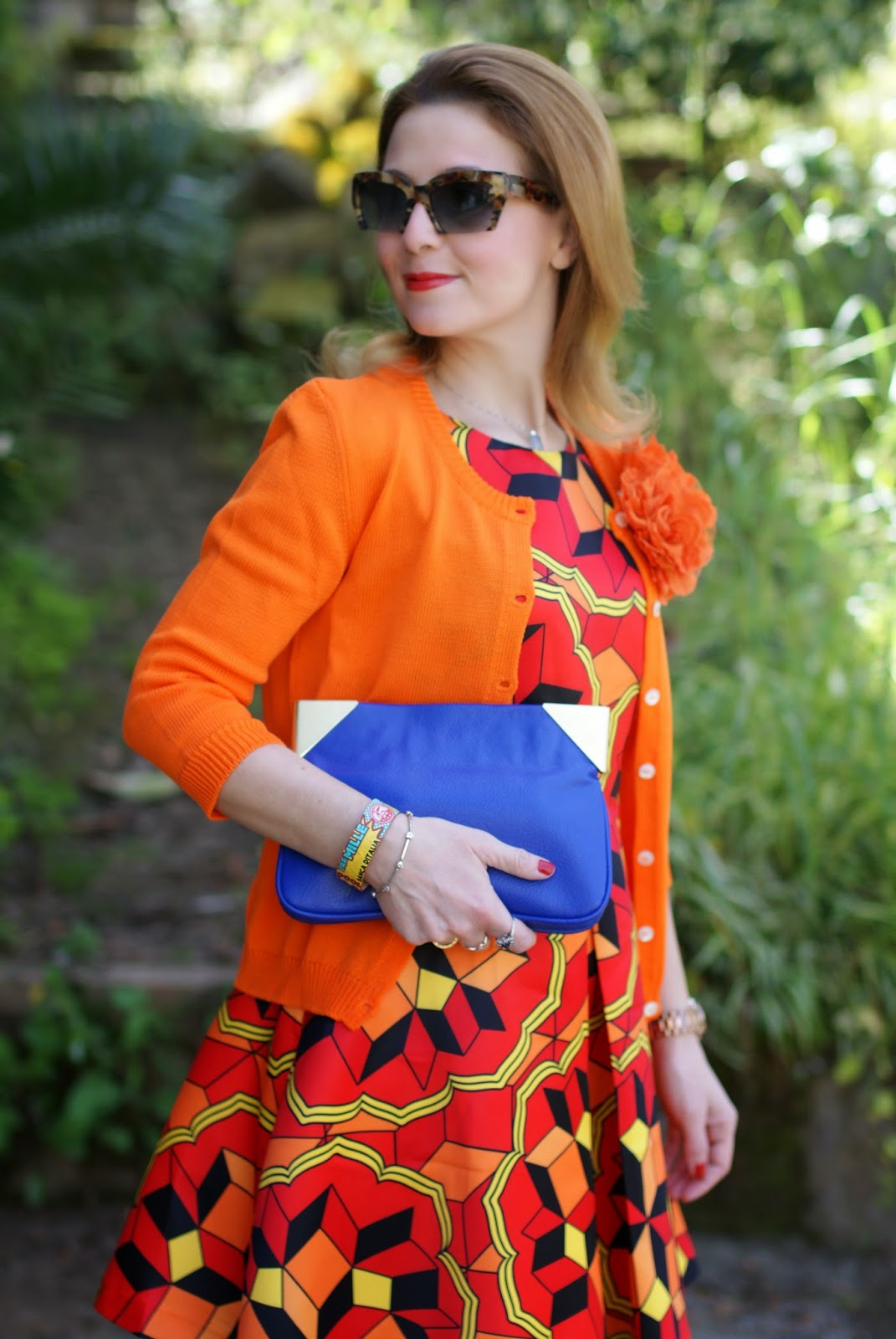 Choies multicolor debris dress, Miu Miu rasoir sunglasses, Millelire POP, Fashion and Cookies, fashion blogger