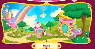 Screencap of the Amoria section from the Filly World toy site.