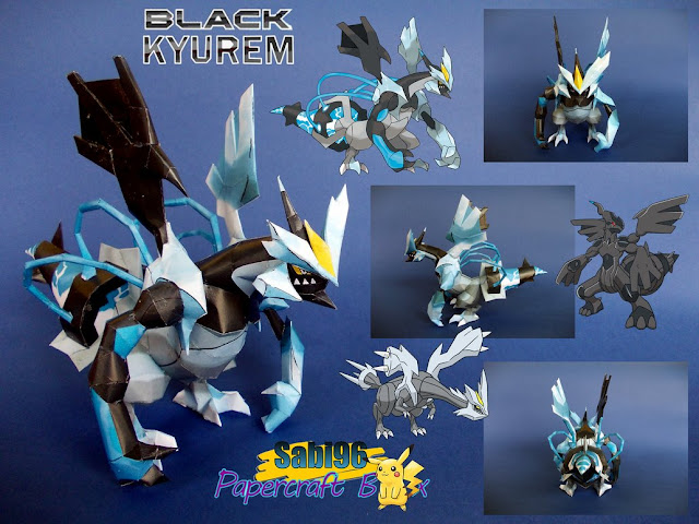 Pokemon Black Kyurem Papercraft