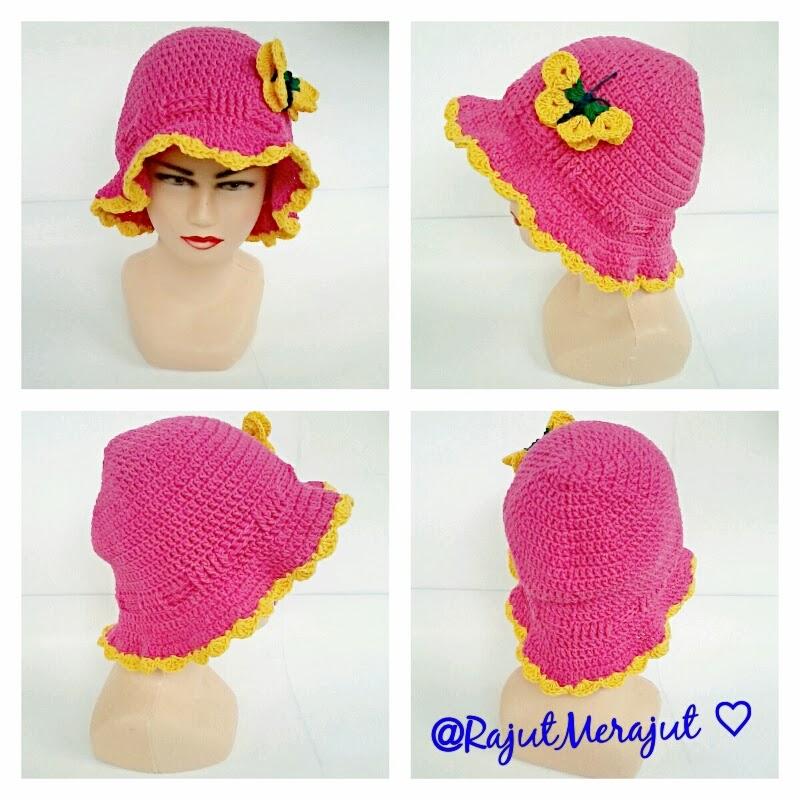 Crochet hat, girl hat, baby hat, topi rajut, topi rajut bayi, topi rajut cantik, topi rajut cewek, topi rajut girly, jual topi rajut
