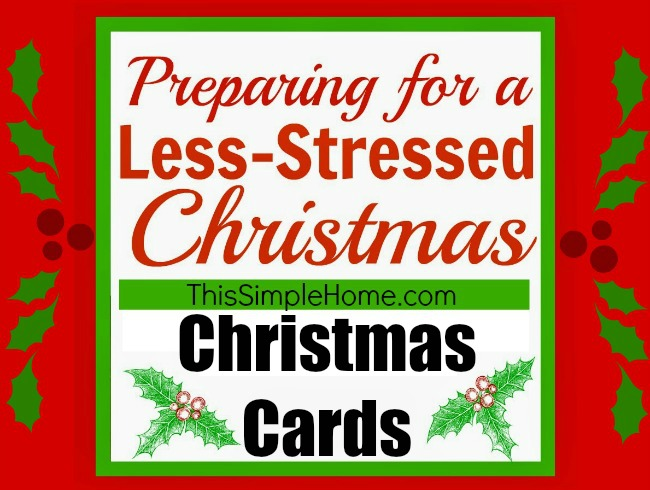 This Simple Home: Preparing Christmas Cards