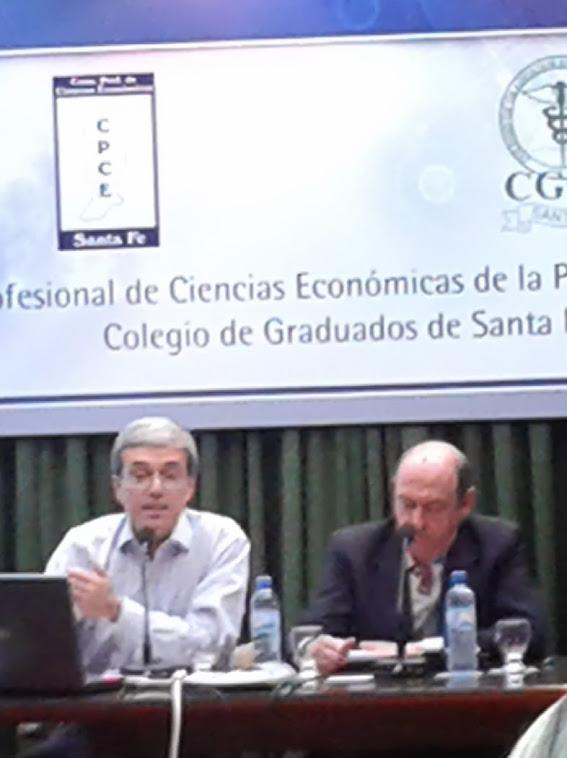 Jornadas de Economía organizadas por Colegio de Graduados, Consejo Profesional y Fac. Cs. Ec. UNL