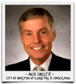JACK CHRISTIE IS CURRENTLY SERVING HIS SECOND TERM IN OFFICE