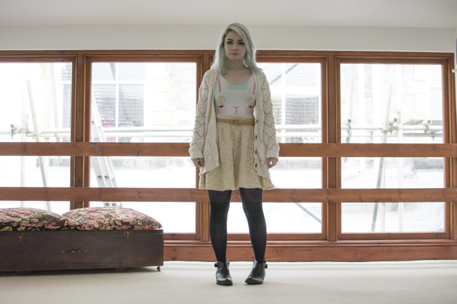 spring lookbook with pastel shades and lace