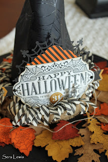 Close up of the witch hat made from Stampin' Up! Witching Decor kit