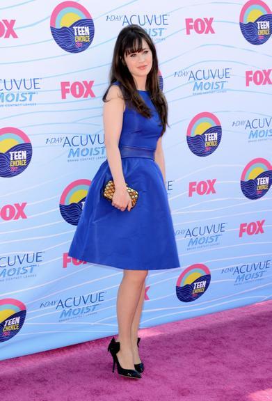 Vestido azul salto preto