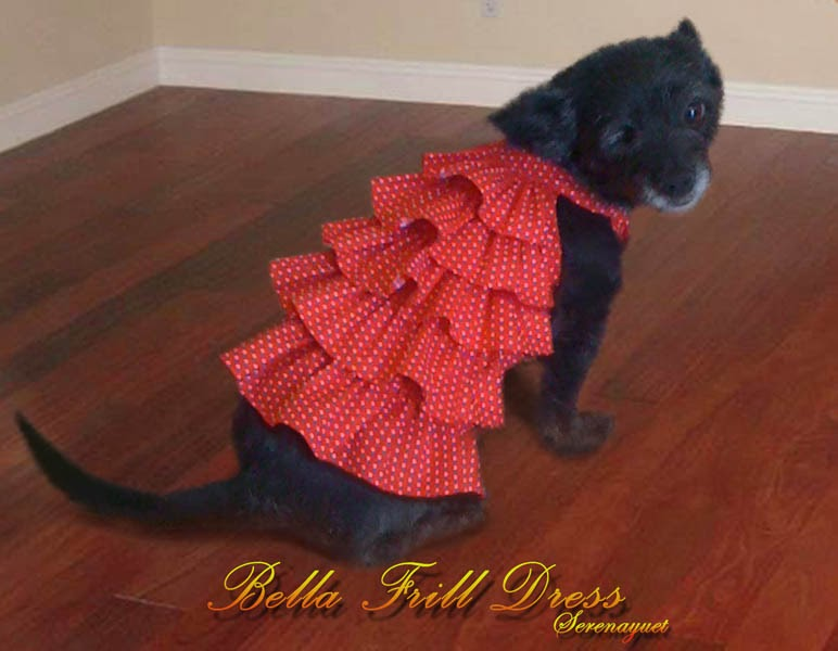 Bella Frill Dress (For Small Dogs)