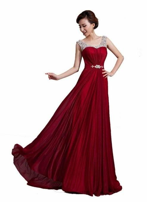prom dressses red