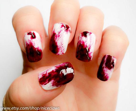 gato noir halloween nail art