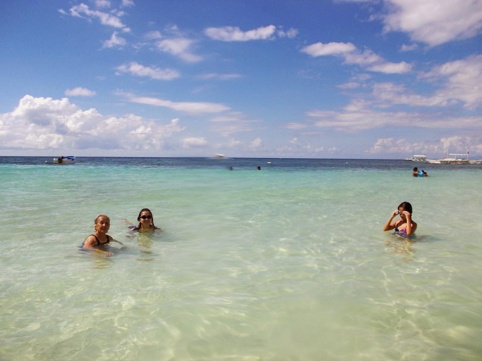 Swimming Time on Alona Beach In Panglao Bohol