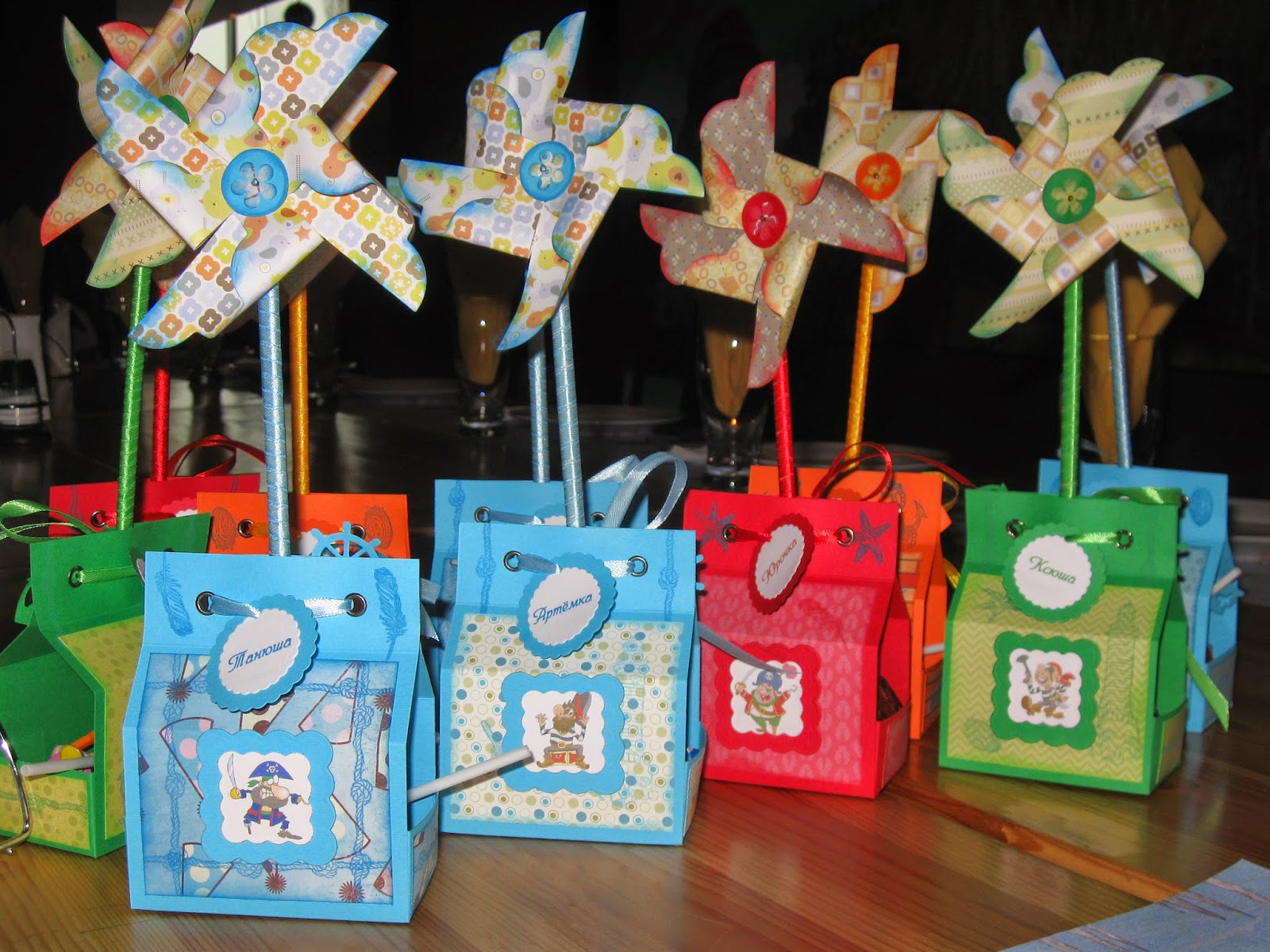 подарочные коробочки на детский день рождения