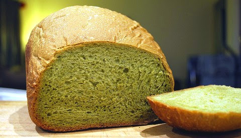 Sweet and Fluffy Green Tea Bread