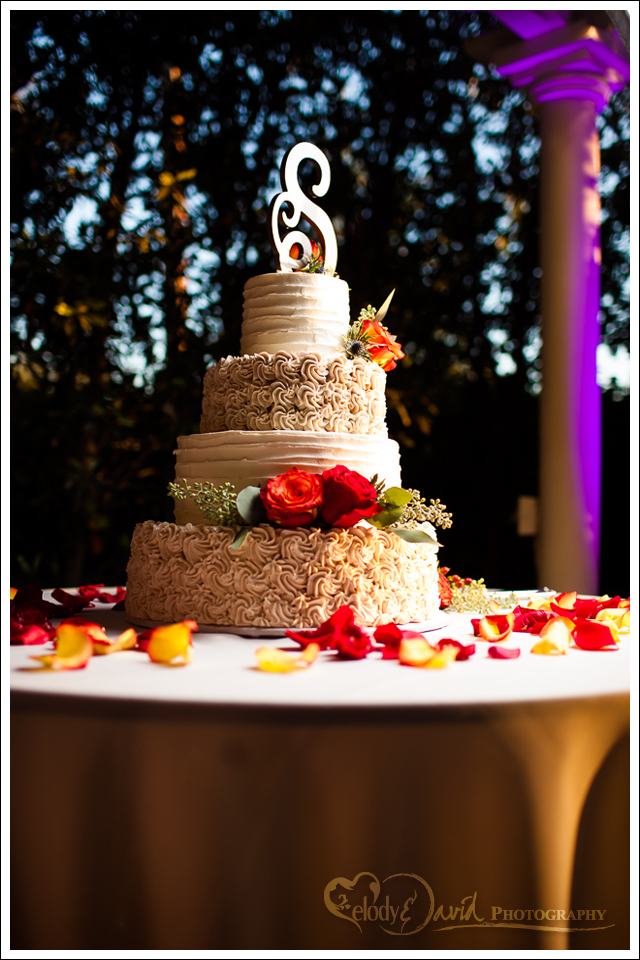 Detail shot of the cake