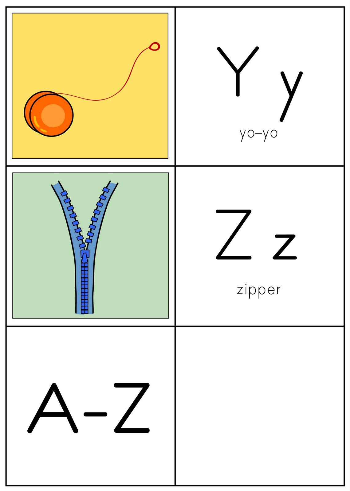 Baú da Web: Alfabeto ilustrado em inglês para imprimir