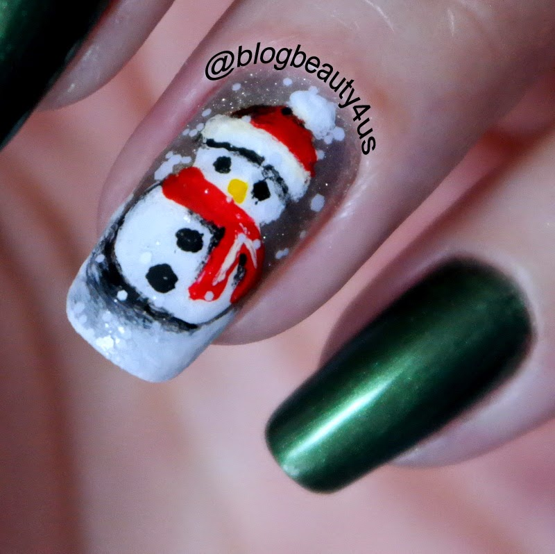 Como fazer boneco de neve nas unhas