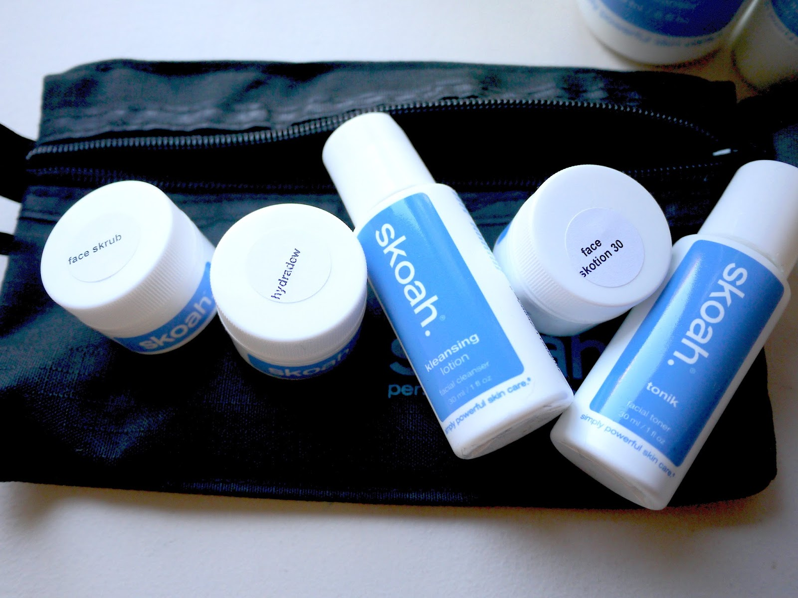 skoah even-keeled kit review kleasning lotion, face skrub, tonik, face skotion