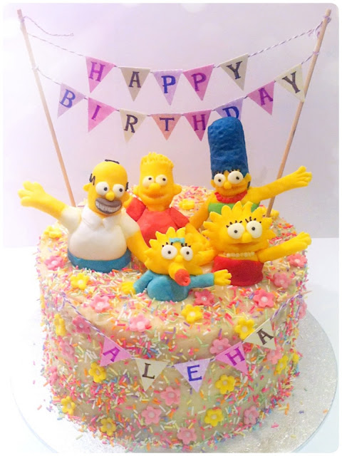 Cherie Kelly's The Simpsons Rainbow Cake