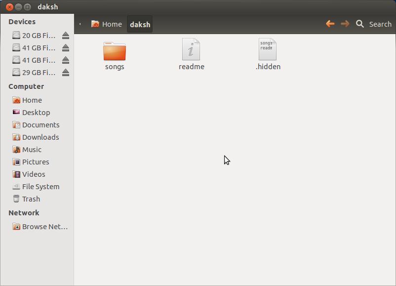 how to show hidden files in ubuntu