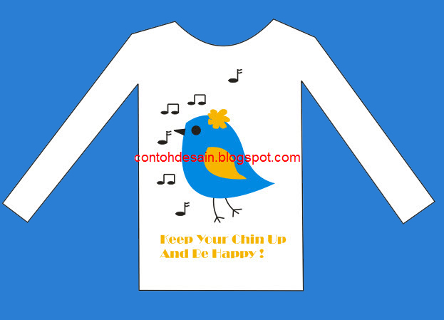 Desain Kaos Lengan Panjang