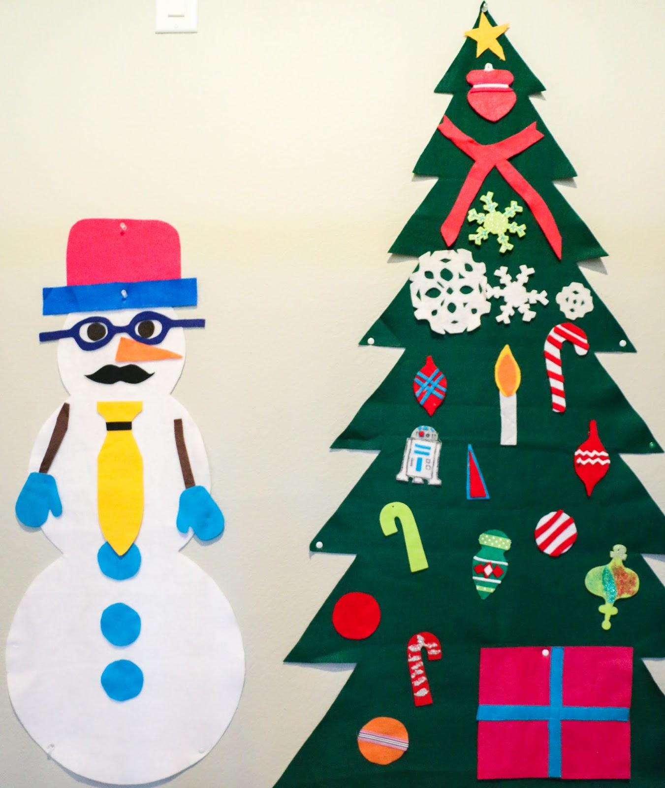 a kailo chic life craft it felt snowman and tree activity