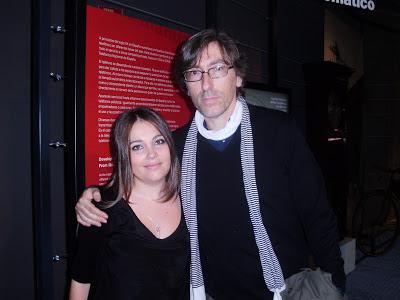 David Trueba y nuestra redactora Tania Sanz García. EL INVITADO. Making Of