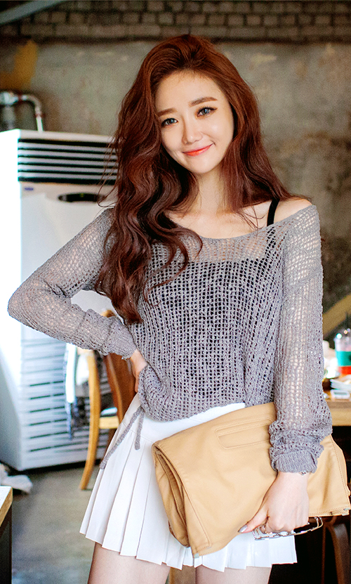 Side Tie Knit Pullover