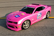 . Society for each caution lap that a specially themed pink Camaro SS pace .