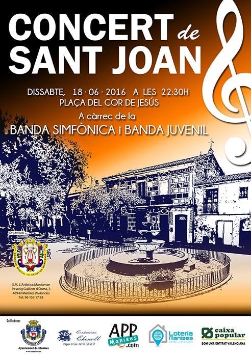 18.06.16 CONCERT DE SANT JOAN PER L'ARTISTICA MANI- SENSE EN LA PL. DEL MERCAT