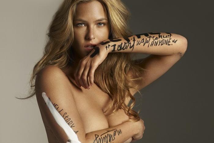 фото надписи на голых девушках