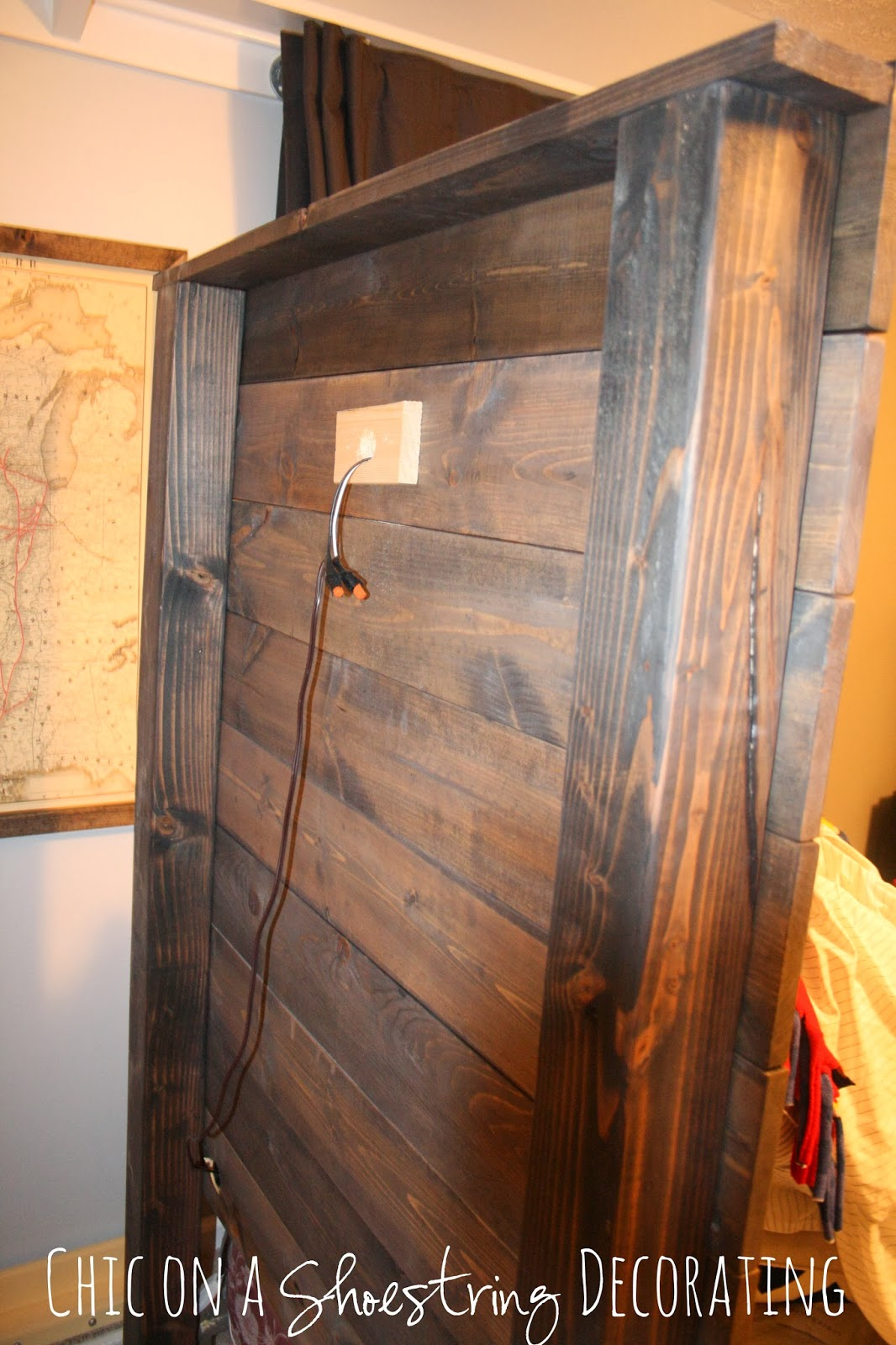 How To Build A Rustic Wooden Headboard. My Bigger Boy Room Headboard . Full resolution‎  picture, nominally Width 1066 Height 1600 pixels, picture with #C97502.