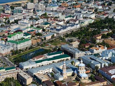 Казанский парк Черное озеро