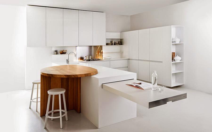 cocinas minimalistas para ahorro de espacio para casas