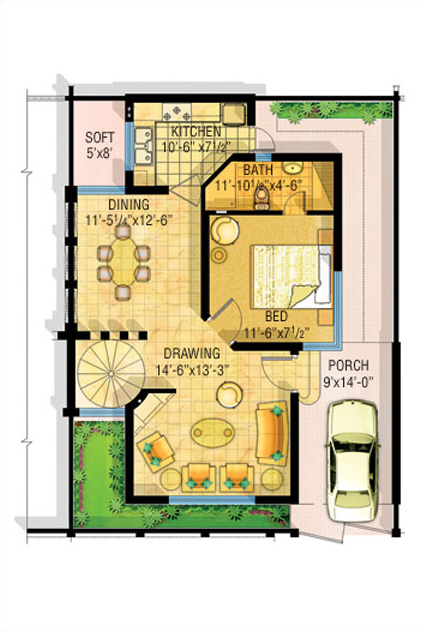 3d front bahria town lahore safari villas for Maps of home design